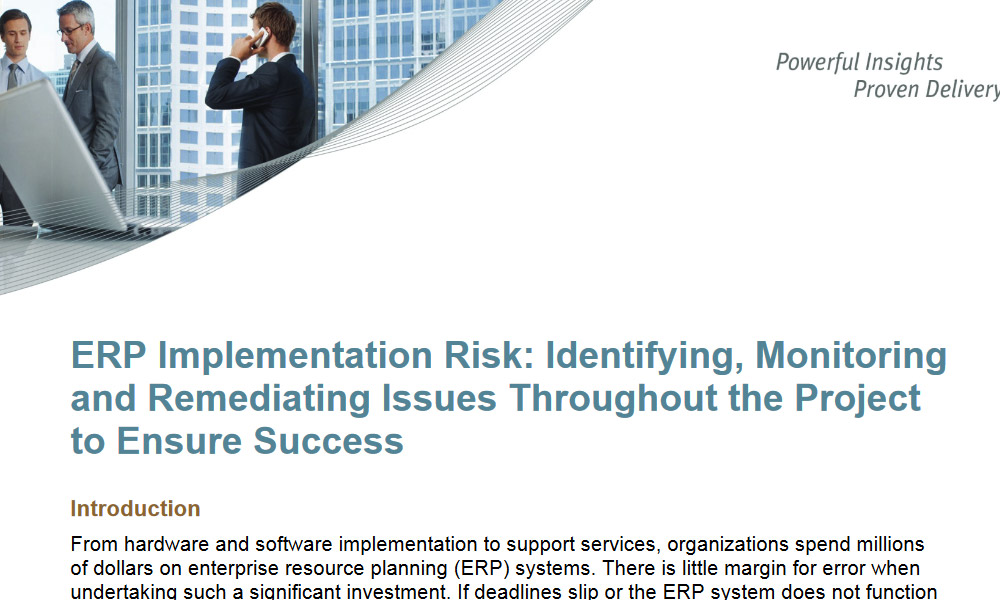 ERP software white paper