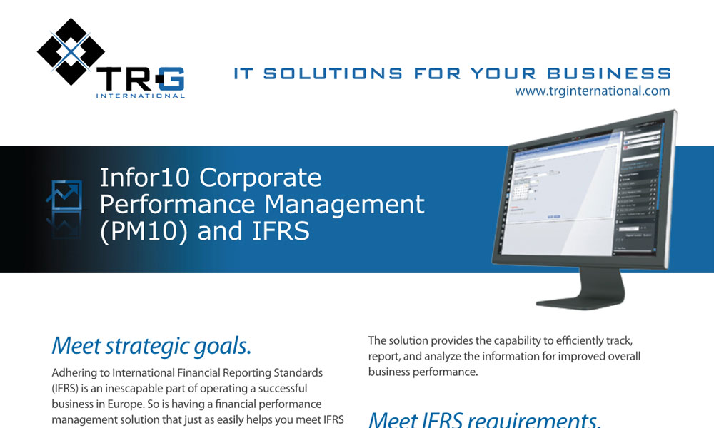 TRG Financial performance management services