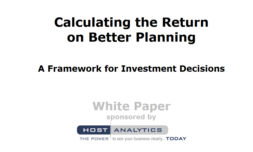 white paper financial investment and management framework