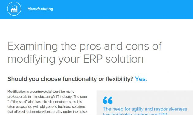 Infor cloud ERP solution white paper