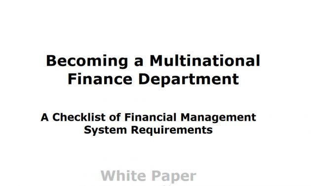 financial management system guide white paper