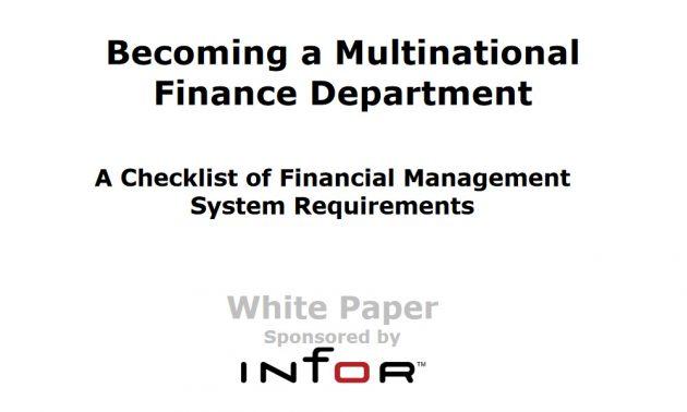 Infor SunSystems và Quản trị tài chính doanh nghiệp