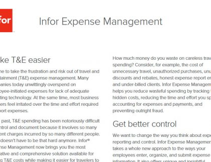 TRG T&E expense Management technology services