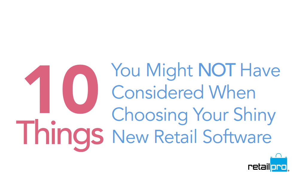 Retail Pro and retail management software white paper