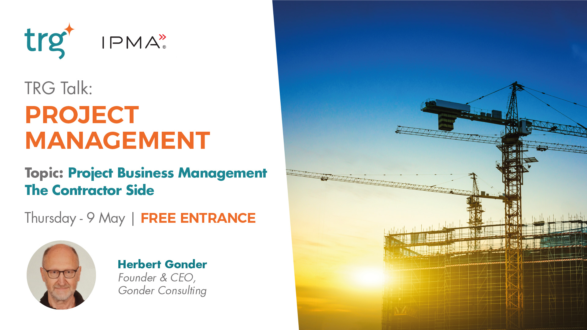 TRG Talk Project Management Event banner