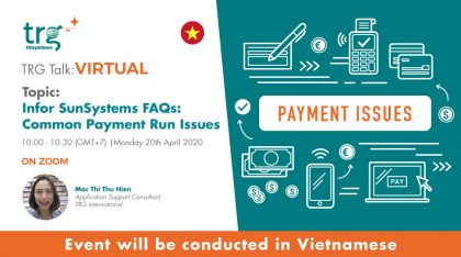 Infor SunSystems FAQs: Common Payment Run Issues 3