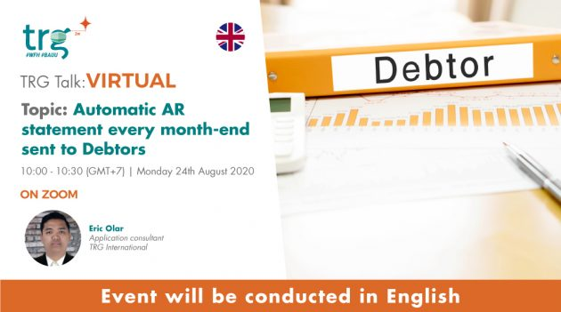 Automatic AR statement every month-end sent to Debtors 3