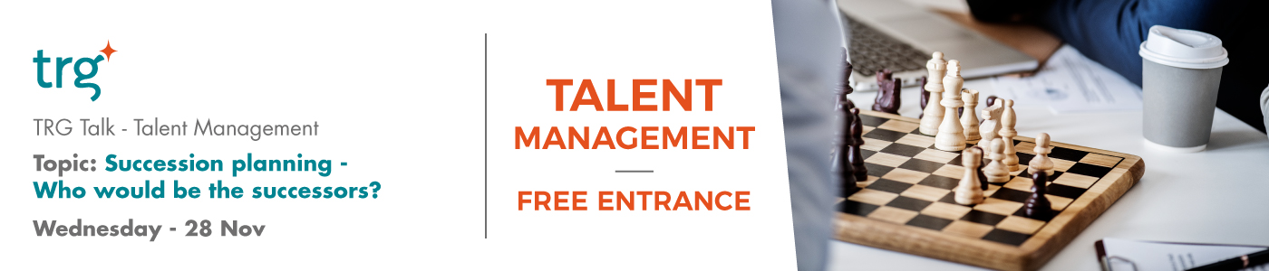 TRG Talk Talent management event banner